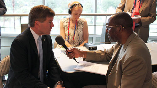 Bob McDonnell talks with Kojo