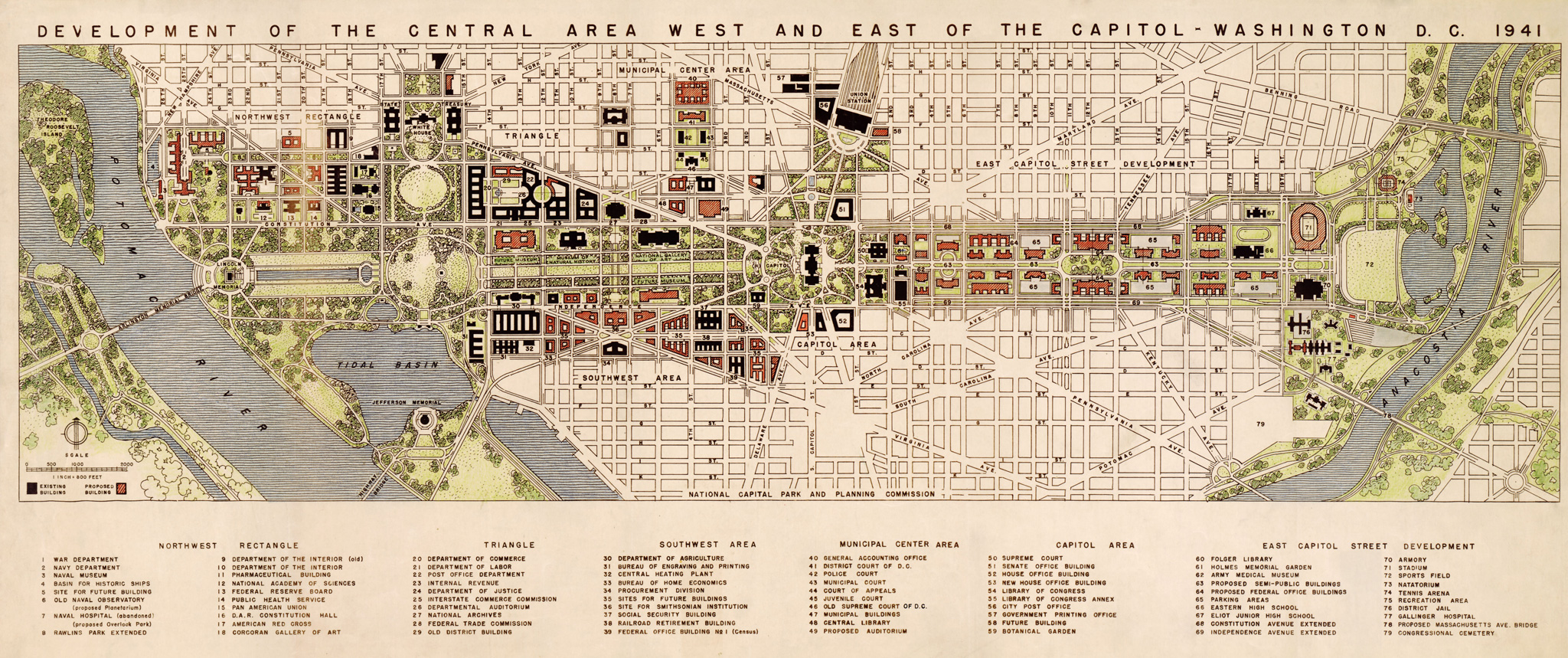 A Second National Mall The East Capitol Street That Might Have - Washington dc map of sites