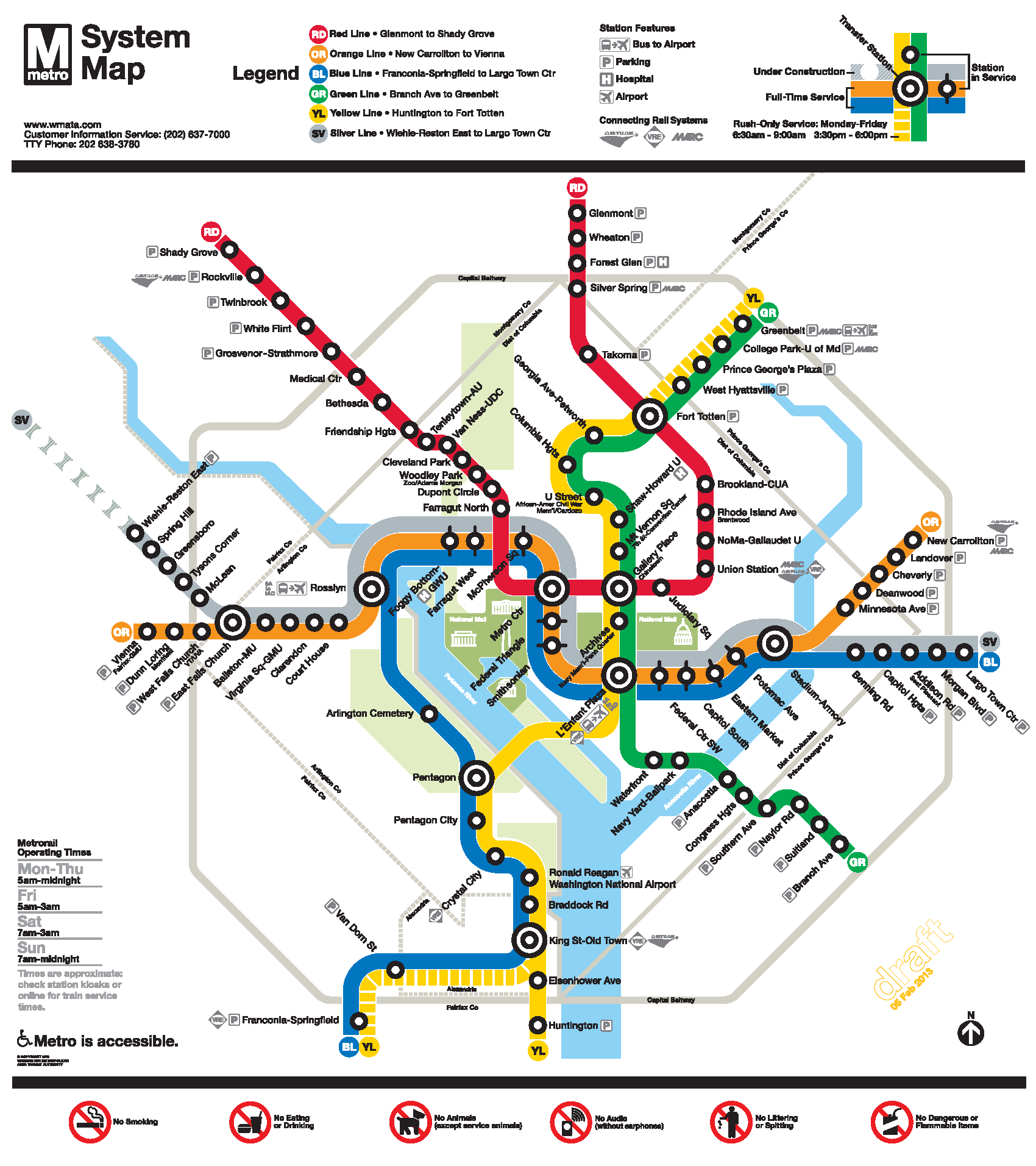 Silver Line Metro Map Metro Map - Washington dc silver line map