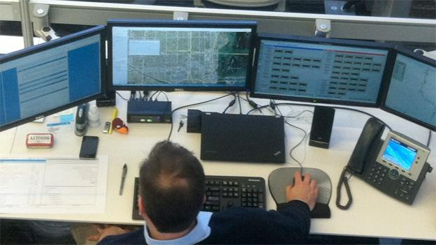 Transurban employees monitor the traffic on the 495 Express Lanes around the clock.