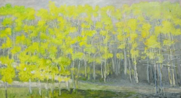Wolf Kahn's expressionist landscape portraits are showing at Addison/Ripley Fine Art.