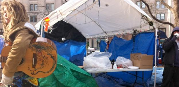 The kitchen tent at the Occupy DC camp at McPherson Square had to be shut down.