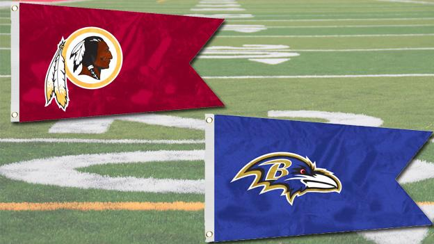 The Redskins are considered underdogs against the Seahawks, while the Ravens have the odds edge over the Colts.