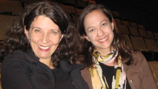As part of Theater J's Locally Grown Festival, D.C. Playwright Laura Zam (L) and director Shirley Serotsky (R ) are collaborating on Zam's seventh one-woman show, Married Sex.