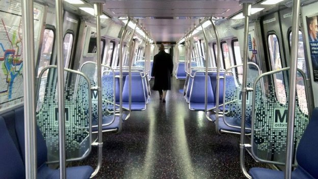 The 7000-series Metro cars eschew the orange carpet to which commuters have grown accustomed.