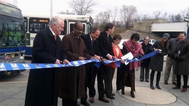 Officials from both D.C. and Montgomery County cut the ribbon on the K9 line on Monday.