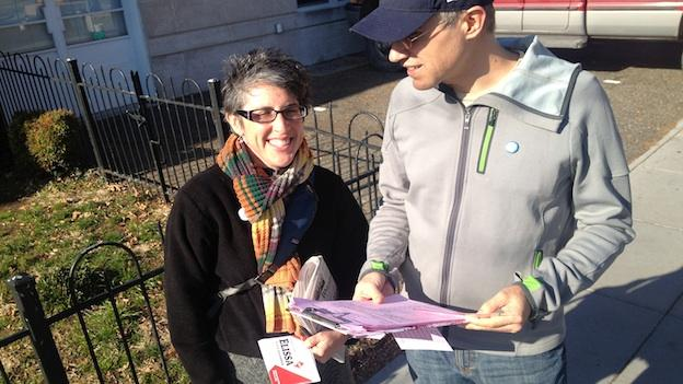 Elissa Silverman gathers signatures to qualify for the ballot for D.C.'s special election.