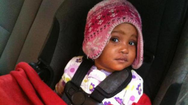A man was arrested after this 13-month-old child was found unattended at McPherson Square.