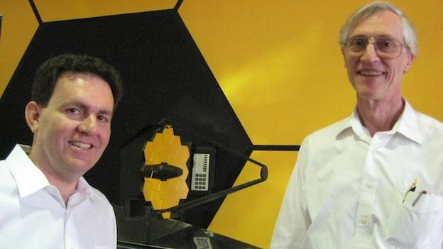 "NASA scientists Lee Fineberg (L) and John Mather ( R) say the James Webb Space Telescope is so revolutionary, it's like ""our generation's Apollo."""
