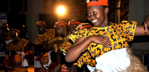 The Children of Uganda perform Thursday night in Washington.