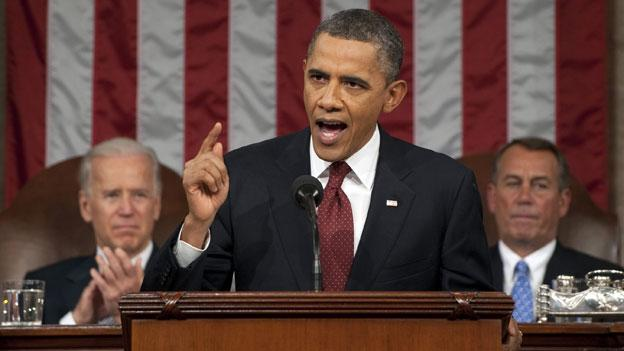 President Barack Obama delivering the State of the Union address on Capitol Hill Wednesday night.