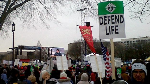 Thousands of anti-abortion activists took to the National Mall on Friday.