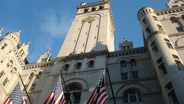 The Trump family wants to turn the historic Old Post Office Pavilion into a luxury hotel.