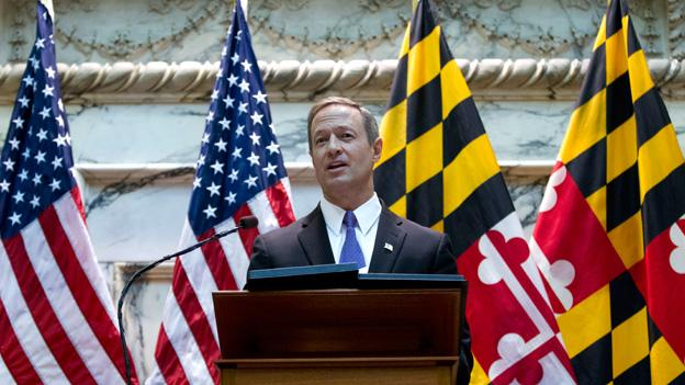 Maryland's governor Martin O'Malley deliver his speech during his State of the State address in Annapolis Md. on Wednesday.