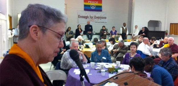 Ani Palmo, a Buddhist monk, echoed the emphasis on social justice that unites those at the People's Prayer Breakfast.