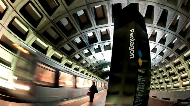 Three escalators at the Pentagon Metro station are being repaired.