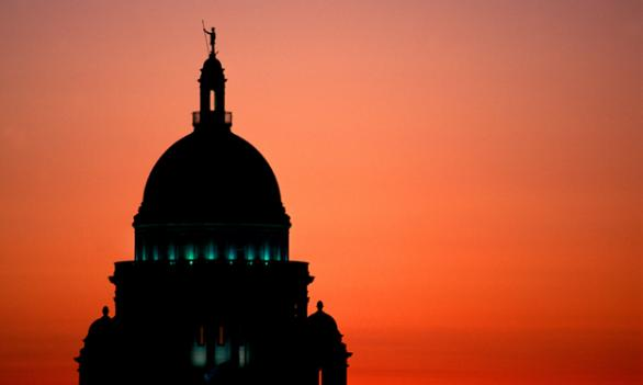 "Democrats have dominated Rhode Island's Capitol building in Providence for decades. One state Republican says it's an ""uphill battle"" to sell voters and candidates on the GOP's message."