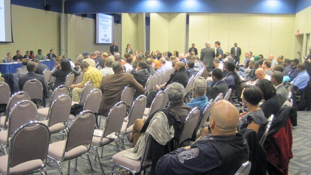 Maryland residents turned out to a town hall meeting on gun control Feb. 5.