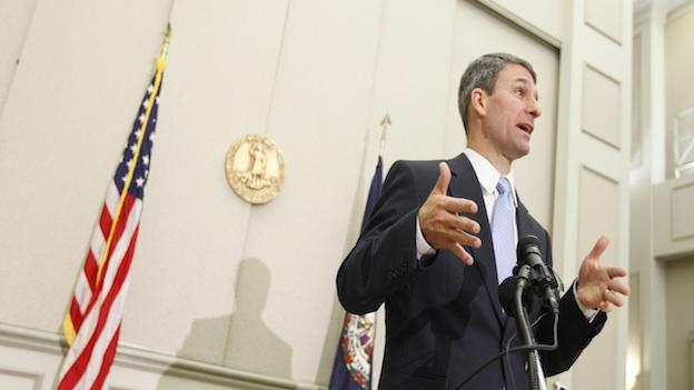 Virginia Attorney General Ken Cuccinelli gestures during a press conference in Richmond, Va. Democrats object to the Republican gubernatorial candidate receiving gifts from political contributors.