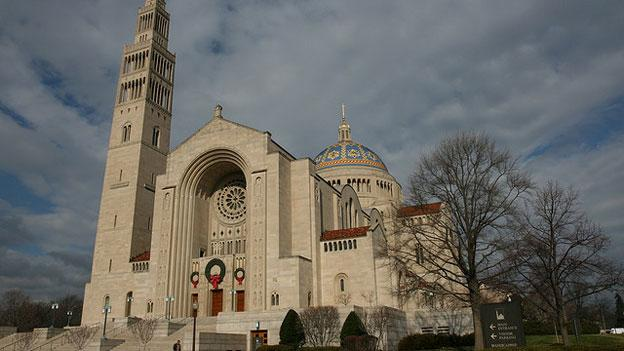Local Catholics, including members of the clergy attending services at the Basilica of the National Shrine of the Immaculate Conception in Northeast D.C. this morning, had emotional reactions to the pope's announcement.