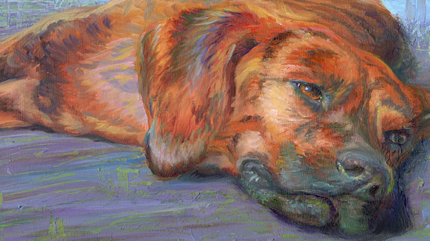 Cute canines and cats are showing at Workhouse Arts Center.