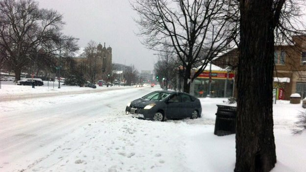 Drivers who didn't heed the warnings to avoid the roads inevitably got stuck around the D.C. region.