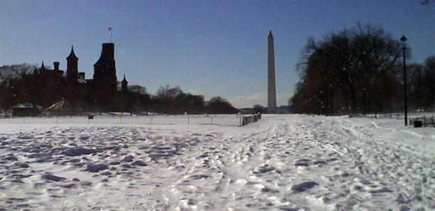 The D.C. area could see 1-3 inches of snow this evening.