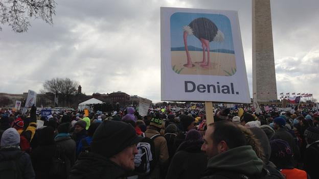 More than 30,000 people from across the country rallied for climate change in Washington, D.C. Sunday, Feb. 17, 2013.