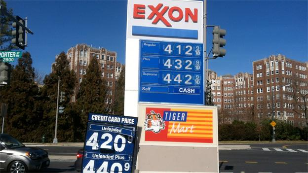 Gas prices in Cleveland Park have risen to well over $4 after a recent spike.
