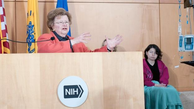 Maryland Sen. Barbara Mikulski speaks at an event at the National Institutes of Health in February 2013.