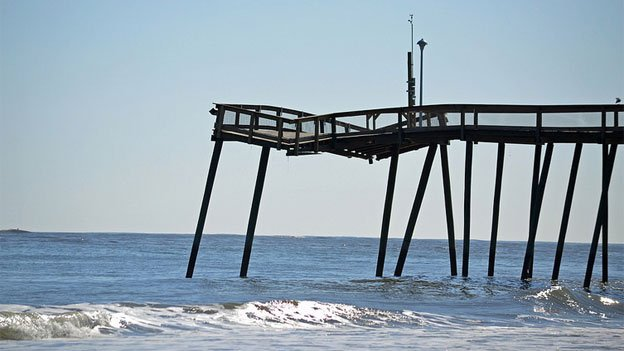 Missing pilings have rendered the famous Ocean City fishing pier unsafe.