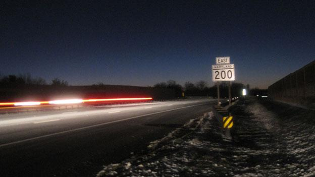 The Intercounty Connector see before dawn in 2011.