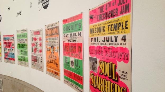 """A portion of the """"Pump Me Up: D.C. Subculture of the 1980s"""" at the Corcoran Gallery of Art in Washington, D.C."""