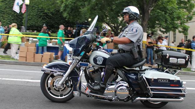 Officer Peter Laboy, pictured here during 2012 National Police Week, is a 17-year veteran and has been a motorcycle officer for six years.