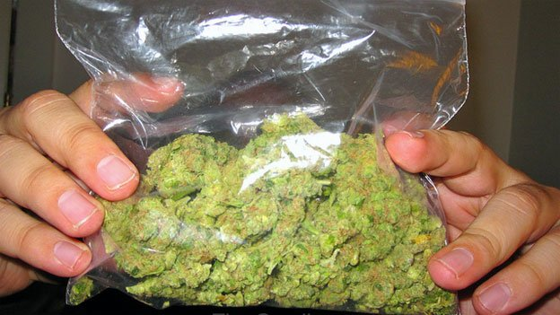 As long as it's kept inside, possession of an ounce or less of marijuana carries a fine of $25.