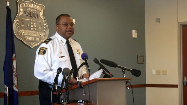 Alexandria Police Chief Earl Cook briefs reporters on the investigation into the Ruthanne Ladato murder.