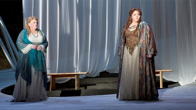 Washington National Opera's production of Norma is performed in Italian with English subtitles.