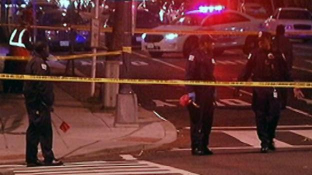Police investigating the scene closed area streets to traffic.
