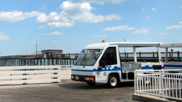 Boardwalk trams will remain advertising-free for the time being — at least until they get an offer they like.
