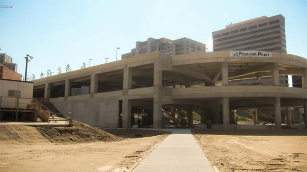 The Silver Spring Transit Center, shown here in October of 2012, has languished due in large part to improperly-poured concrete.