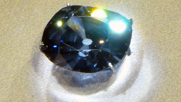 The Hope Diamond's blue color is quite rare.