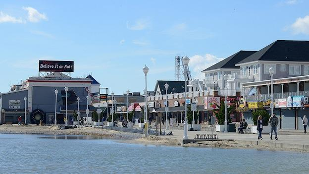 A photograph of Ocean City, Md. taken a couple of days after Superstorm Sandy swept through the area.
