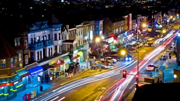This image of Adams Morgan at night is one of the 42 photographs featured in this year's DCist Exposed Photography Show, an annual contest and exhibit.
