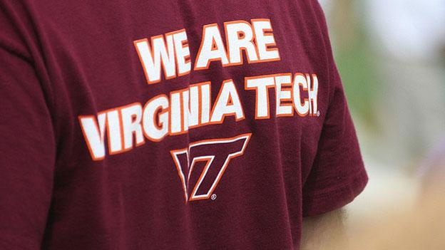 Two Virginia Tech students launched a website that has raised money for the family of a university police officer killed last week.