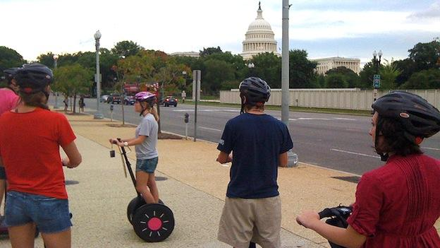The guides for D.C.'s ubiquitous Segway tours are required to pass a test to gain a license