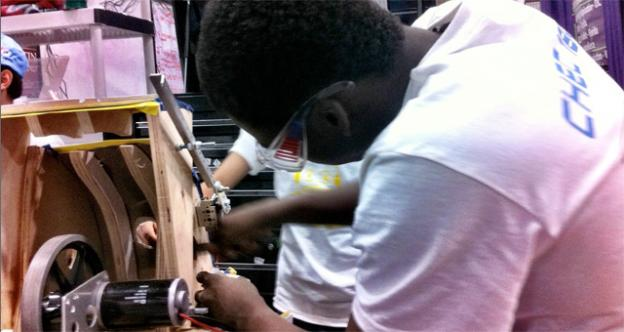 Kayode Ayorinde is a junior track star who brings a lot to his team, because he does robotics in his own time.
