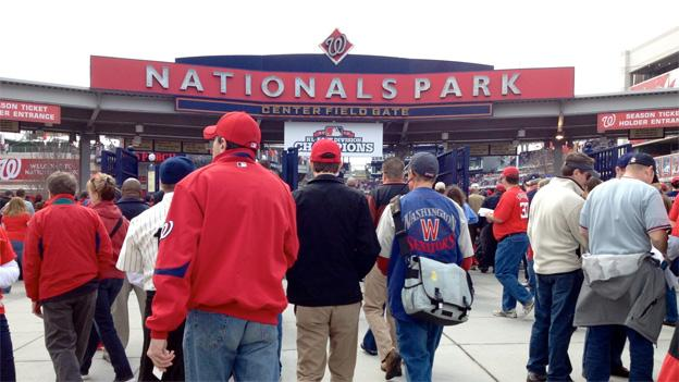There was a sold out croud at Nationals Park on Monday, as the city has embraced the team with its winning ways.