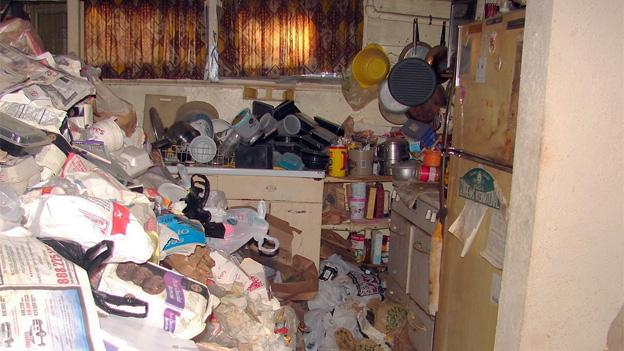 An example of hoarding behavior observed by health officials in Montgomery County.