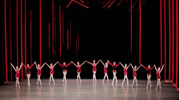 The New York City Ballet performs Rubies from George Balanchine's ballet Jewels.