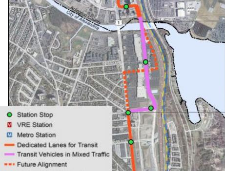 The a study needed for a proposed transit corridor, which would use streetcars in place of buses, now awaits the final location of the Potomac Yard Metro.
